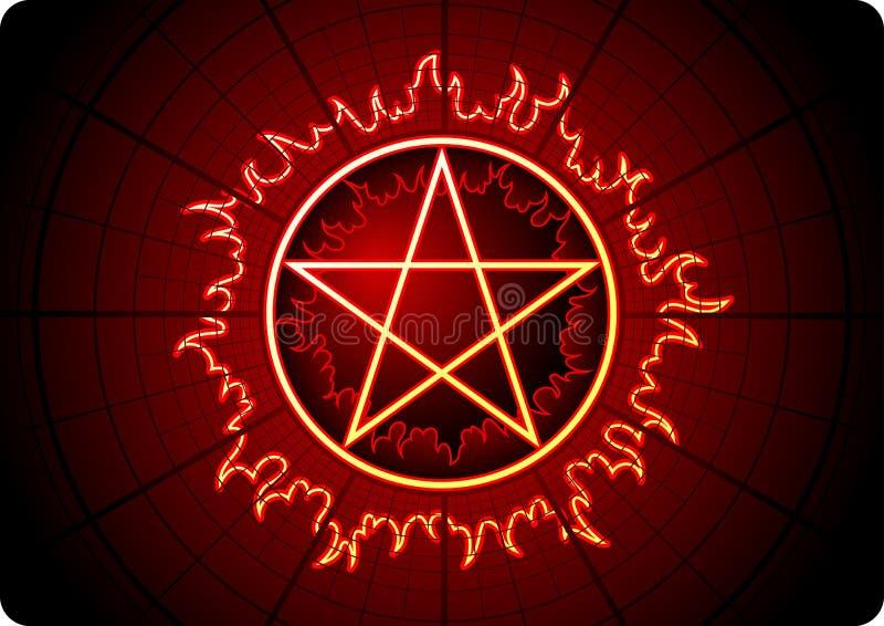 Fire Pentagram Stock Image
