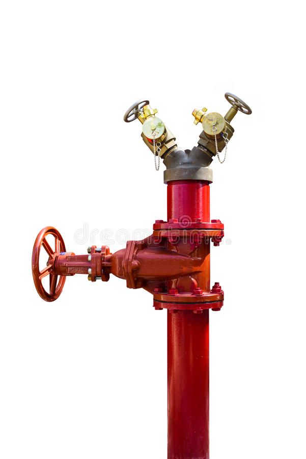 Fire pipe on isolate background stock image