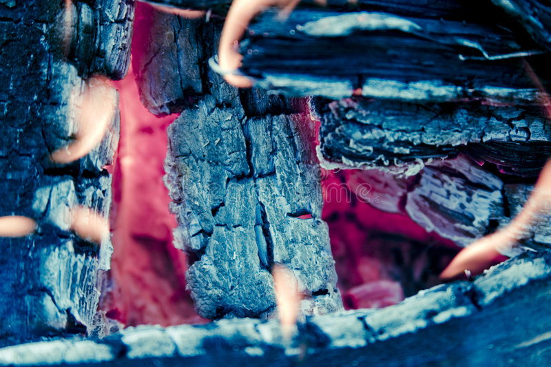 Fire Pit. A close up on a fire pit royalty free stock images