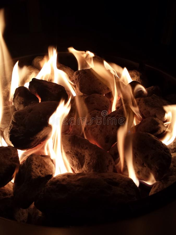 Fire pit. Enjoyed fire pit at backyard to keep warm royalty free stock photo
