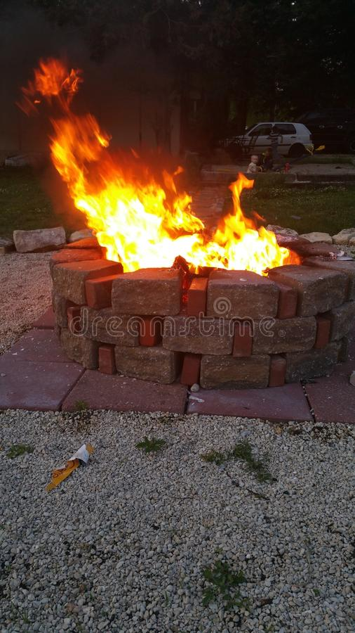Fire pit :) royalty free stock image