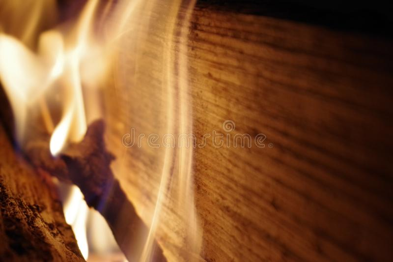 Fire pit. In late fall. Small fire. Warm stock images