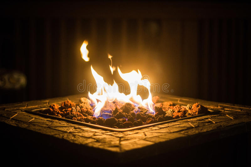 Fire Pit in the Night royalty free stock photography