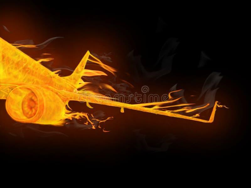 Download Fire plane detail stock illustration. Image of burn, aviation - 15110108
