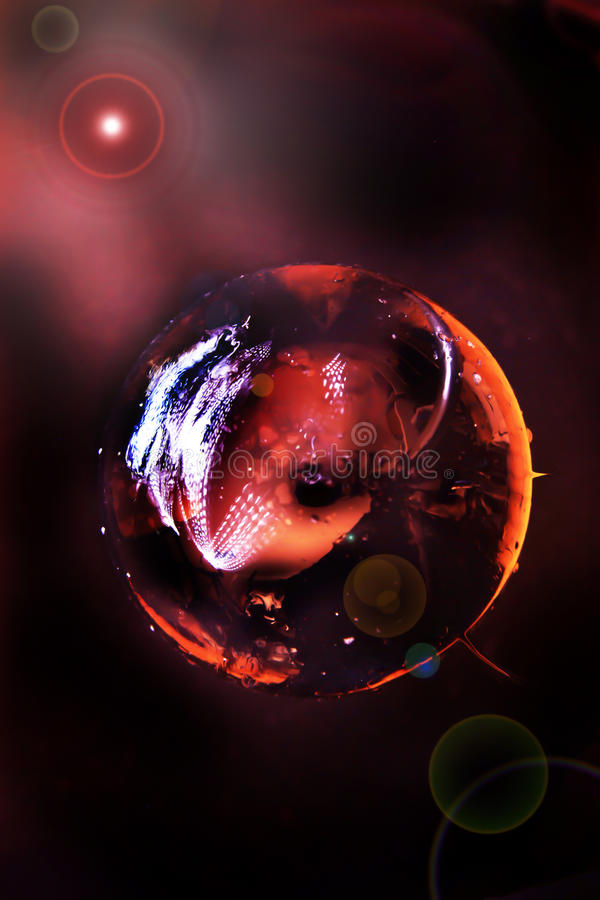 Fire Planet royalty free stock photos