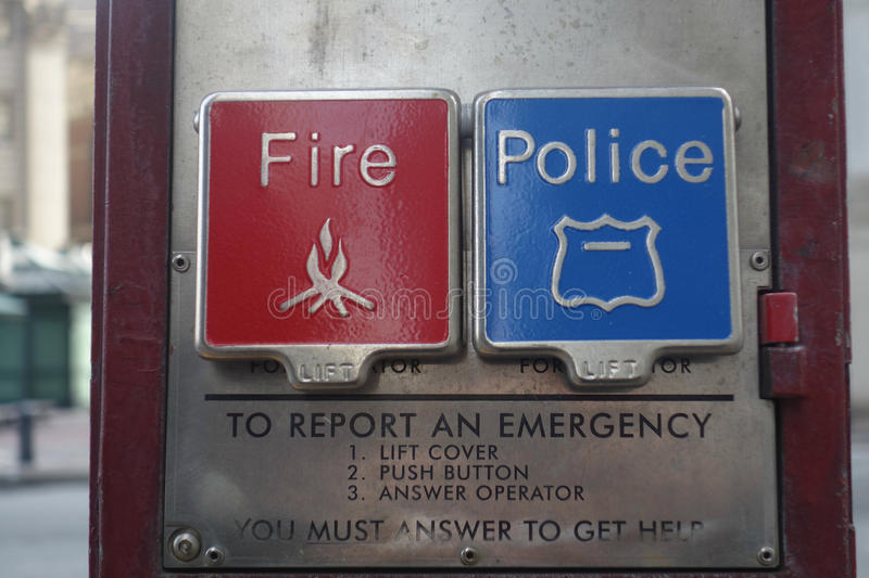 Fire Police stock image