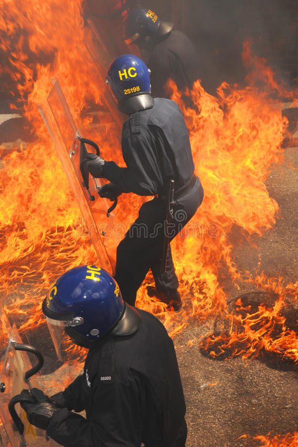 Fire police royalty free stock images