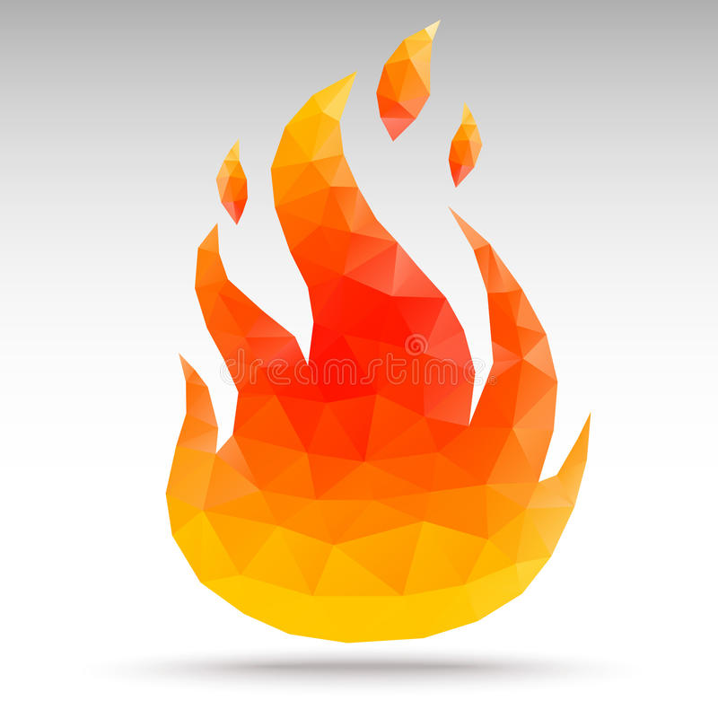 Fire Polygon geometric royalty free illustration