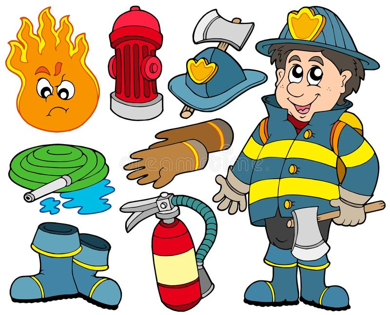Download Fire protection collection stock vector. Image of boots - 12414276