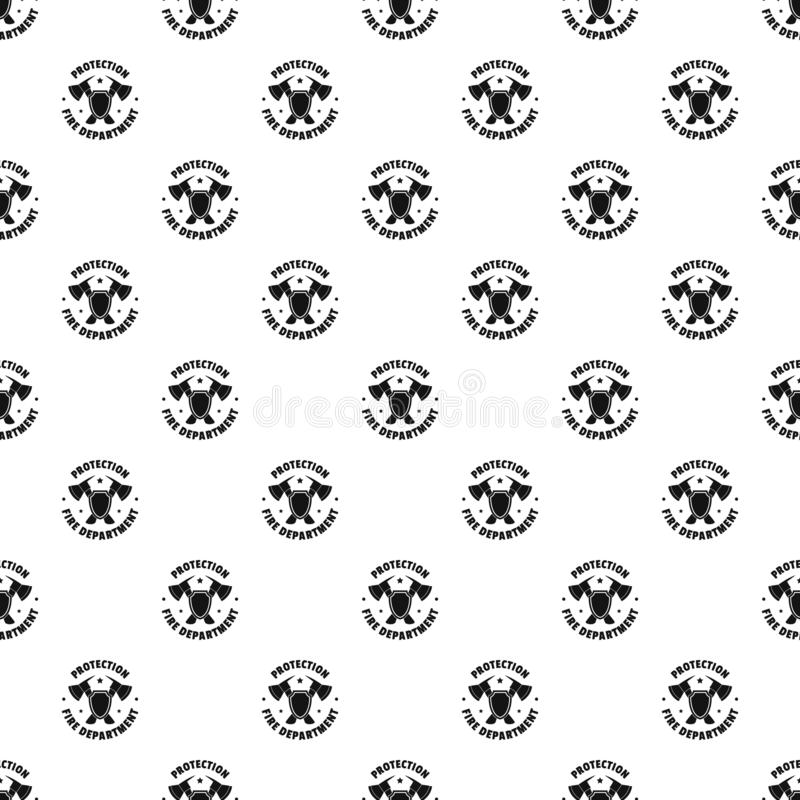 Fire protection department pattern seamless vector. Repeat geometric for any web design royalty free illustration