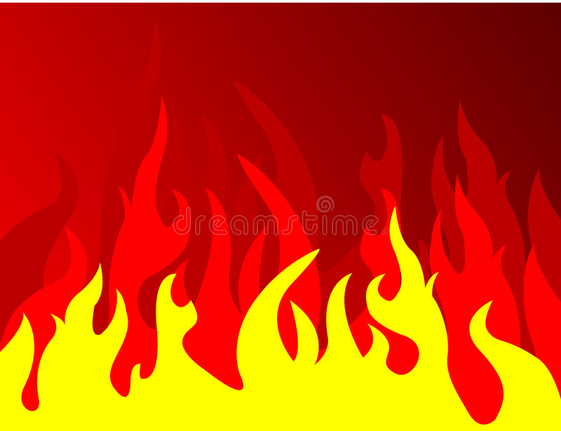 Download Fire on red background stock vector. Image of danger, beautiful - 6455634