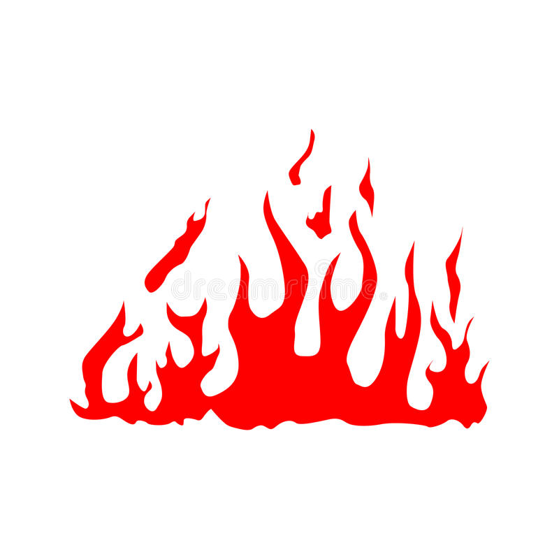 Fire red silhouette vector illustration