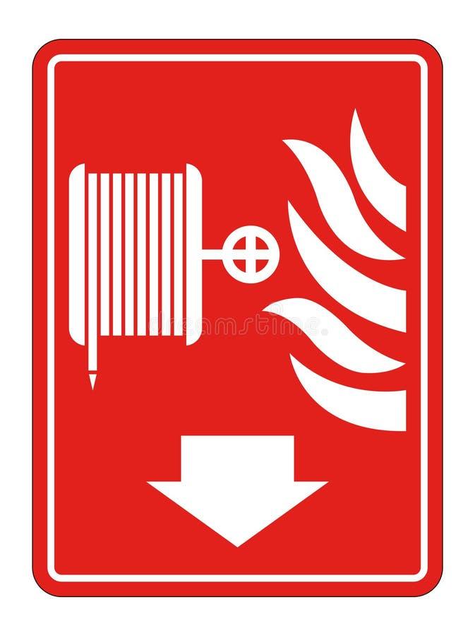 Symbol Fire Reel Hose Sign on white background,Vector llustration. Fire Reel Hose Sign on white background,Vector llustration vector illustration