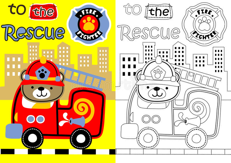 Fire rescue royalty free illustration