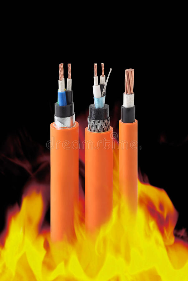 Free Fire Resistant Cables Royalty Free Stock Photo - 11899575