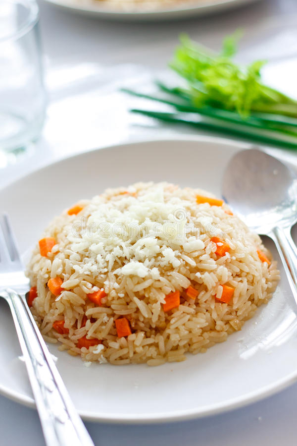 Fire Rice with Cheeses royalty free stock images