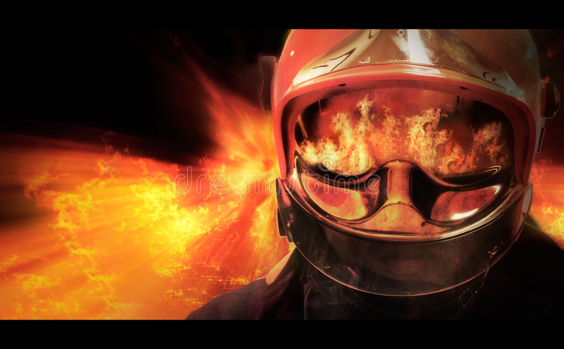 Download Fire Rider stock illustration. Image of reflection, rider - 7920132