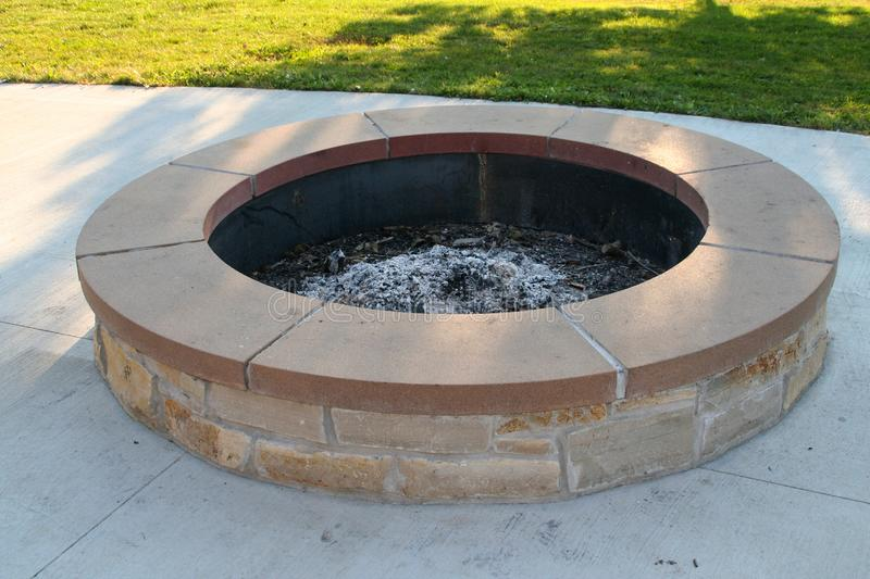 Fire Ring. Picture of a nice fire ring taken at Indian Lake in Wisconsin stock photo