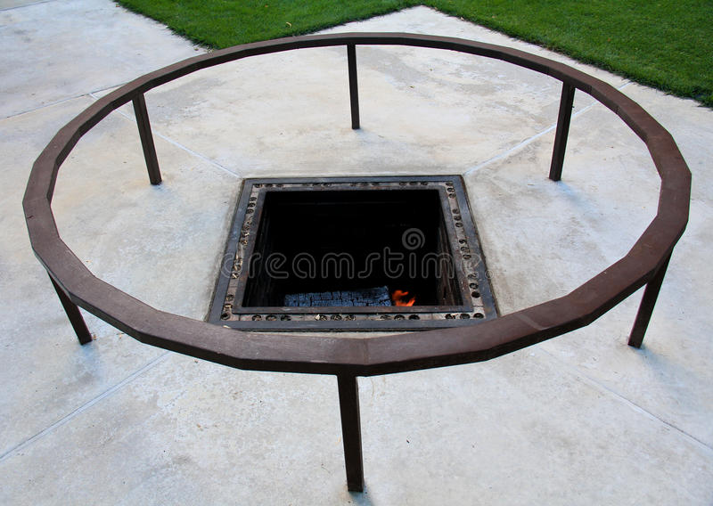 Fire Ring and Pit stock image