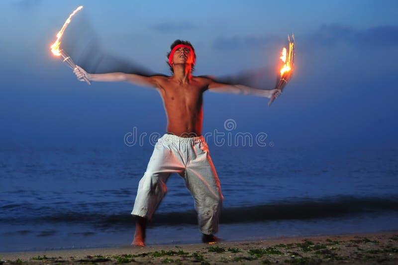 Fire Ritual Stock Photography