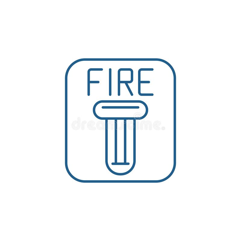Fire safety line icon concept. Fire safety flat  vector symbol, sign, outline illustration. stock illustration