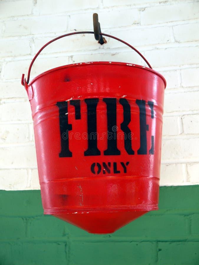 Fire safety: sand bucket