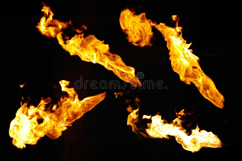Fire samples stock photography