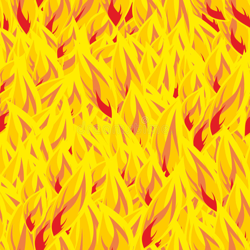 Fire seamless pattern. flames background. Flame texture. Hot yellow flamy ornament. fiery hell stock illustration