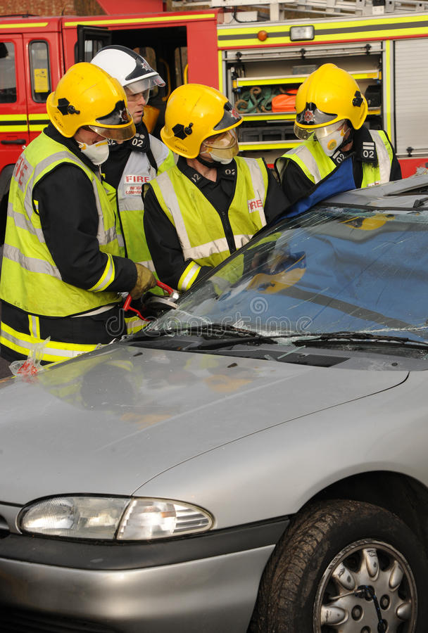 Fire service rescue stock images