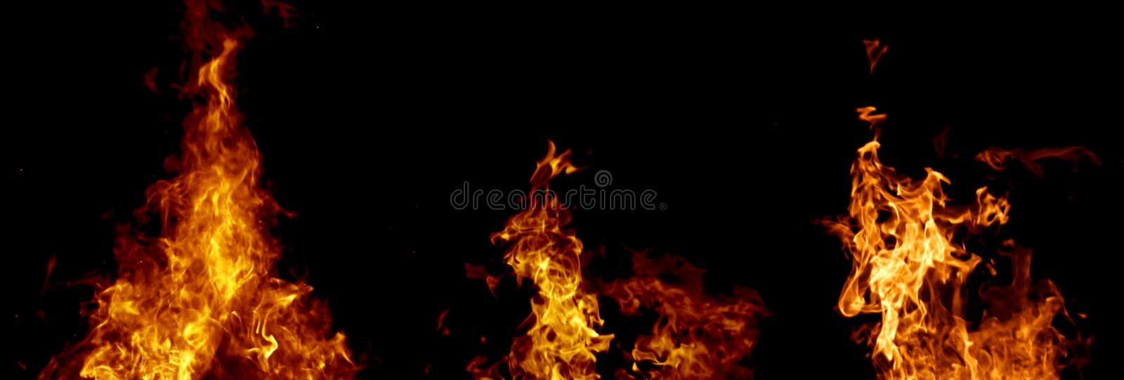 Fire set royalty free stock photos
