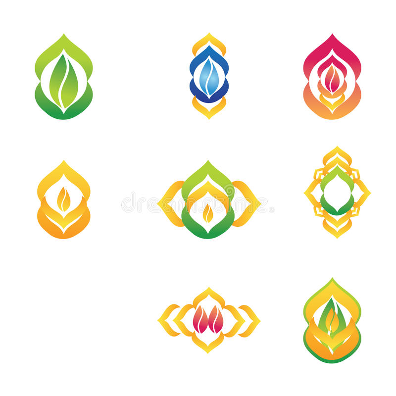 Different and abstract company logo stock image