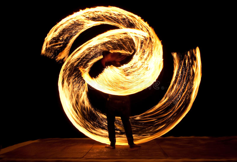 Fire Show royalty free stock image