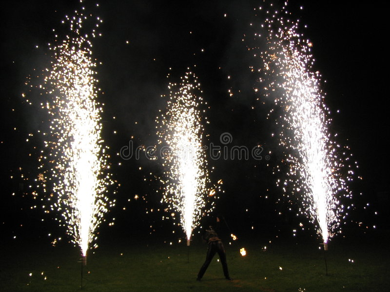 Fire-show royalty free stock photo