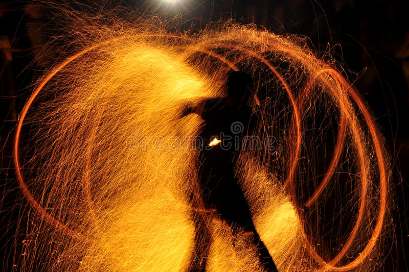 Download Fire show stock image. Image of abstract, balls, knight - 24627805