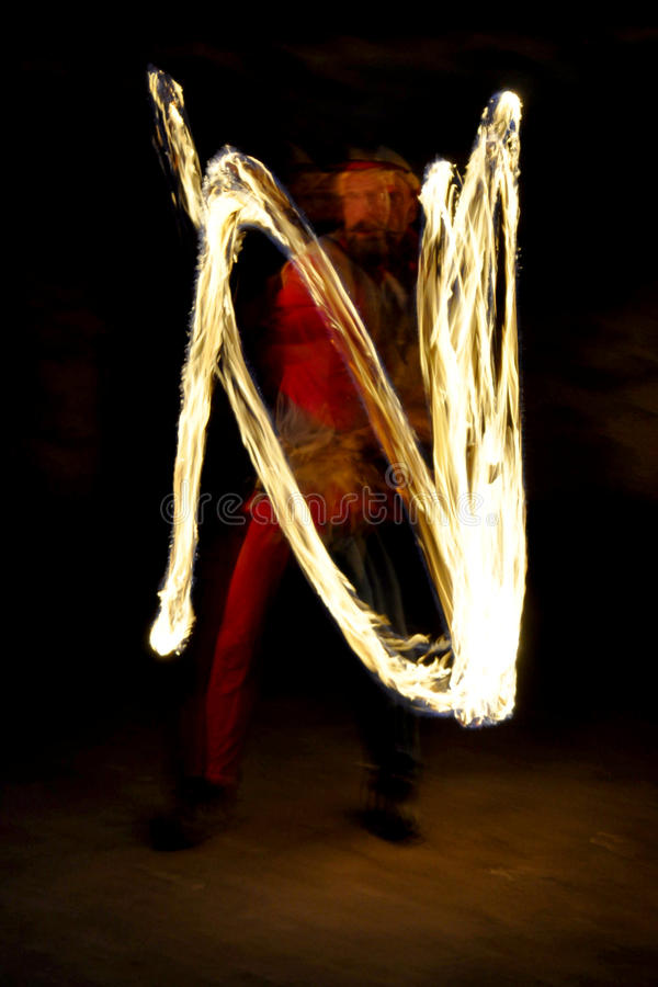 Fire show. Night fire show - a show abstract royalty free stock images