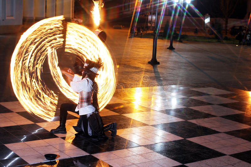 Fire show royalty free stock photo