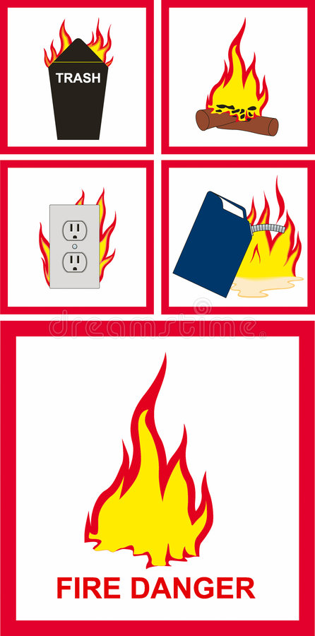 Fire sign royalty free illustration