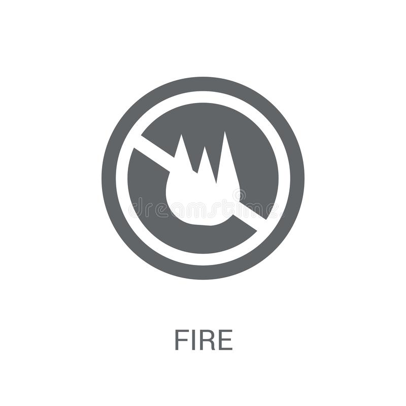 Fire sign icon. Trendy Fire sign logo concept on white background from Traffic Signs collection vector illustration