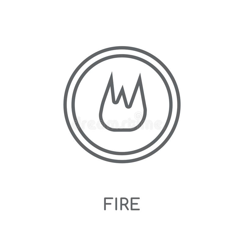 Fire sign linear icon. Modern outline Fire sign logo concept on stock illustration
