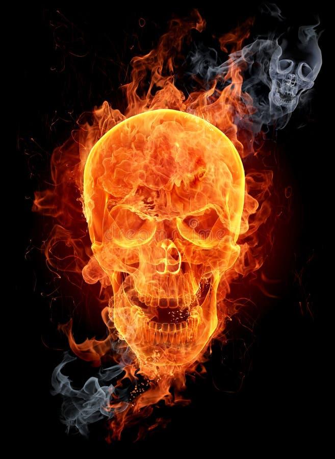 Fire skull royalty free illustration