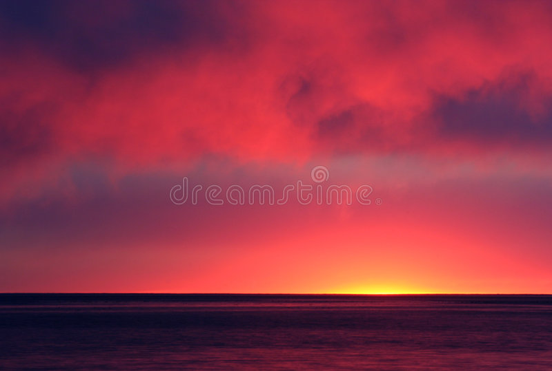 Download Fire in the Sky stock photo. Image of sunset, water, cape - 2384652