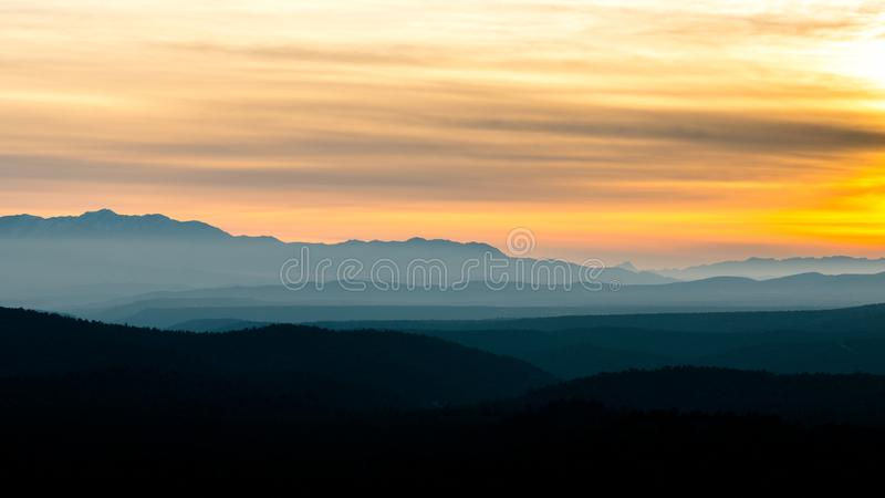 Fire sky`s of Southern Utah royalty free stock photos