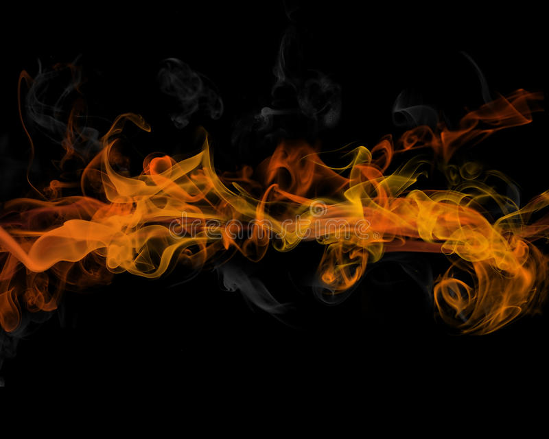 Fire and smoke royalty free illustration