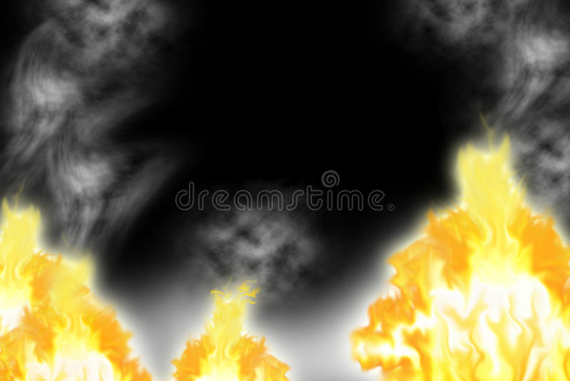 Download Fire with a smoke stock image. Image of dark, glow, danger - 18923557