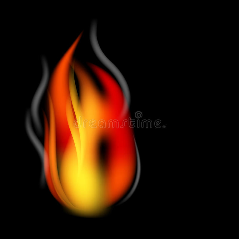 Fire and smoke vector illustration