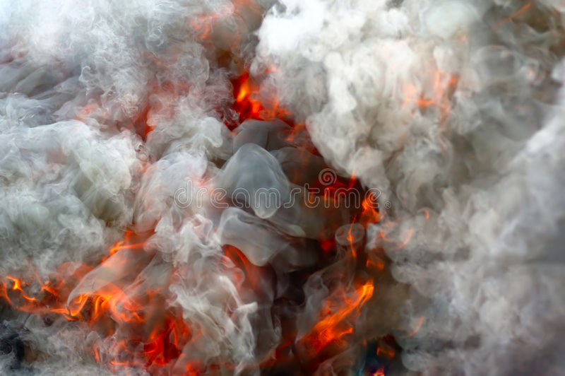 Fire and smoke royalty free stock image