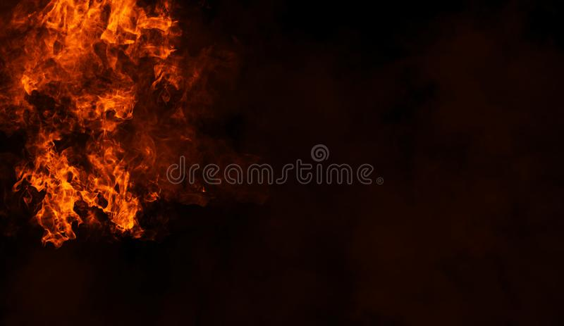 Fire smoke on isolated background. Design element. Fire smoke on isolated background. Design texture element stock images