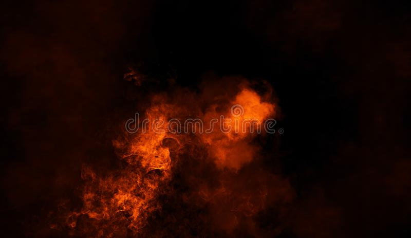Fire smoke texture background. Design element royalty free stock photos