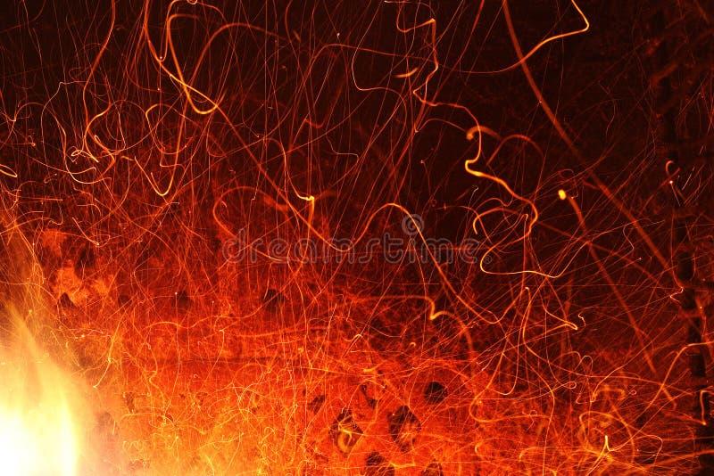 Fire sparkles stock photos
