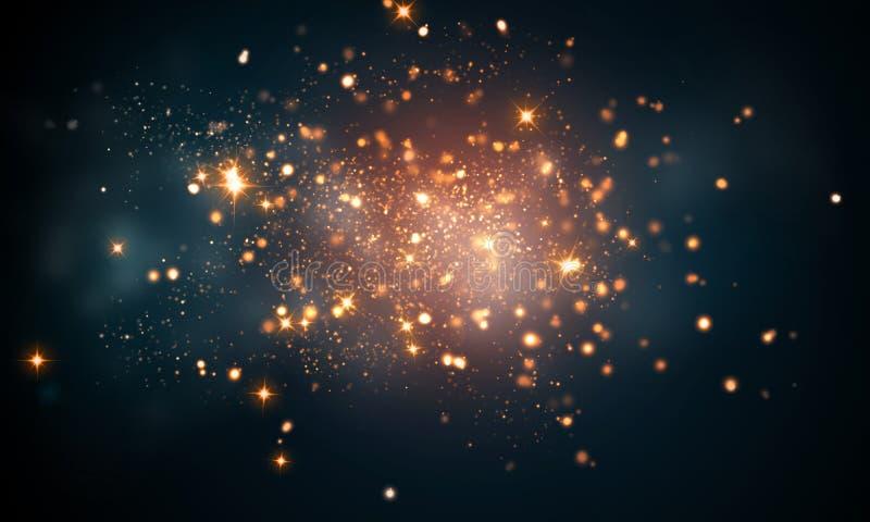 Fire sparkles bokeh background vector illustration
